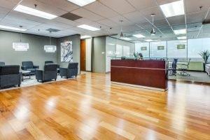 Interior Office Reception Area